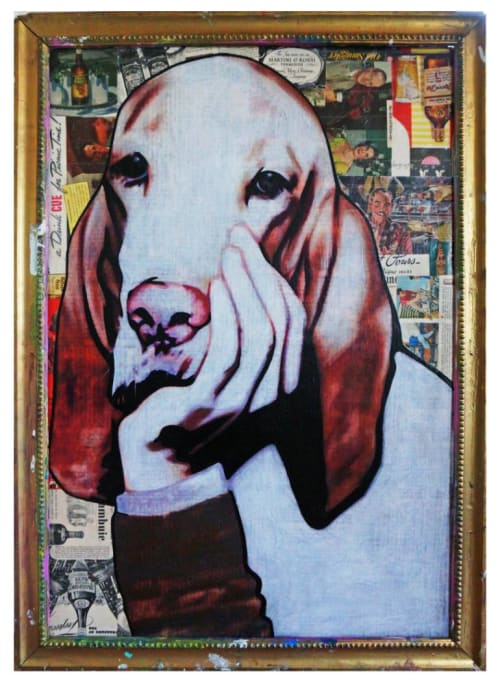Paintings by Annie Terrazzo seen at Freehand Miami, Miami Beach - You Old Dog