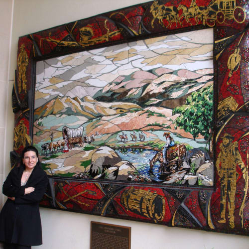 Public Mosaics by Carole Choucair Oueijan at City of Temecula Civic Center, Temecula - The Emigrant Trail