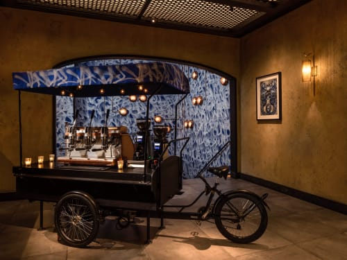 Murals by Apexer seen at Vandal, New York - Espresso Rickshaw