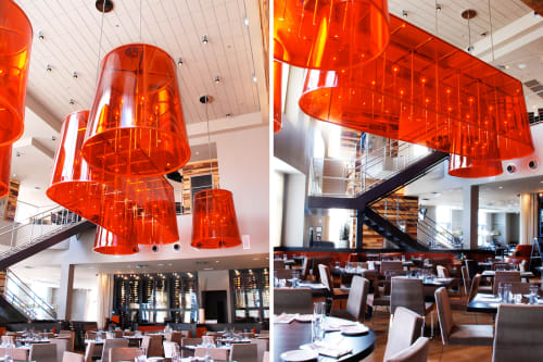 Pendants by Lukas Lighting Inc seen at Vivace, Charlotte - Custom Pendant Fixtures