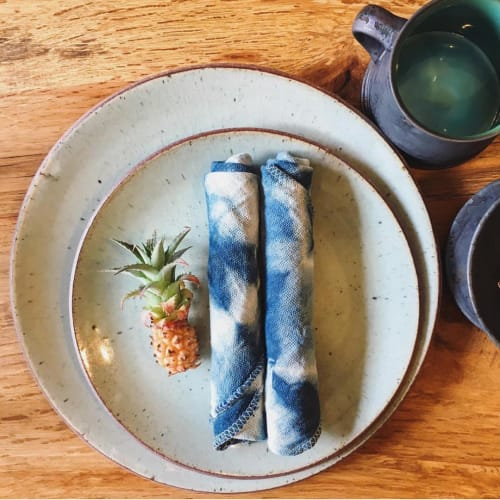Tableware by Lookout and Wonderland at millvalley tokyo, Meguro-ku - Organic Indigo Cloth