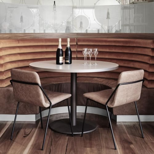 Chairs by m.a.d. furniture design at Domaine Chandon, Yountville - Sling Collection
