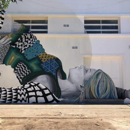 Street Murals by Medianeras > murales seen at CASA DE LA CULTURA - MUNICIPALIDAD VGG, Villa Gobernador Galvez - Mural