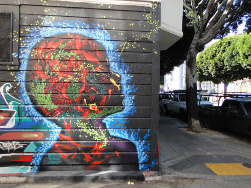 Street Murals by Stink Fish seen at Cypress Alley, SF, San Francisco - Tomorrow is Within my Grasp Today