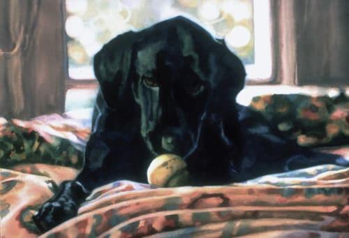 Paintings by Karen Frey seen at Renown Regional Medical Center, Reno - Lewis Loves Balls