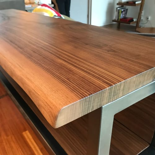 Tables by Caveman Build & Supply Co. seen at Private Residence, Toronto - Live-Edge Kitchen Island