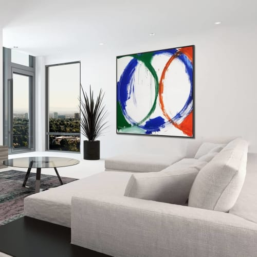 Paintings by Peter Triantos seen at Private Residence, Toronto - Circle #2