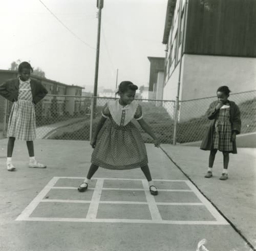 Photography by David Johnson seen at Zuckerberg San Francisco General Hospital and Trauma Center, San Francisco - Bayview Girls Hopscotch – 6