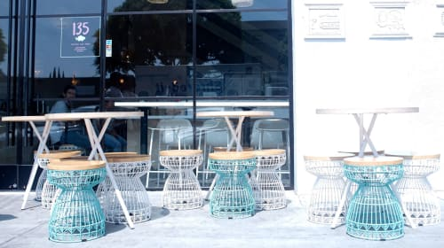 Chairs by Bend Goods seen at Sweetfin Poké, Los Angeles, CA, Los Angeles - The Sweet Stool