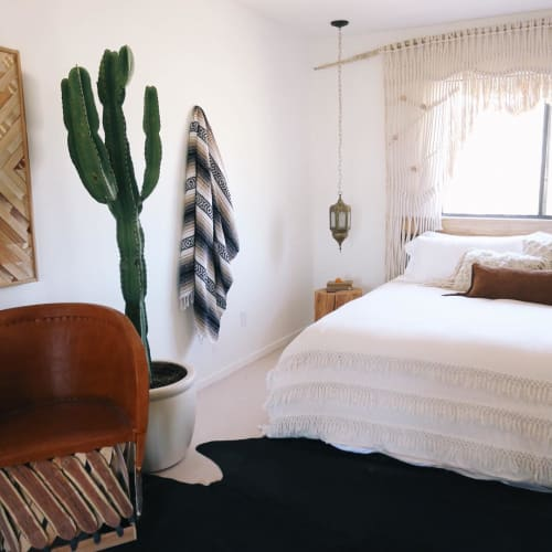 Linens & Bedding by Tribe & True at The Joshua Tree Casita, Joshua Tree - Handwoven Falsa Blanket