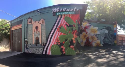 "Murals by Erik Burke seen at Miguel's, Reno - ""A World Away"""