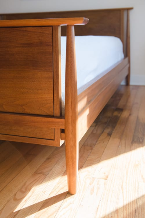 Beds & Accessories by Evan Berding Custom Furniture + Woodwork seen at Private Residence, Durham - Burk Bed