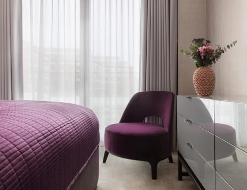 Chairs by Roberto Lazzeroni seen at Luxury Riverside Apartment, London - Ermione