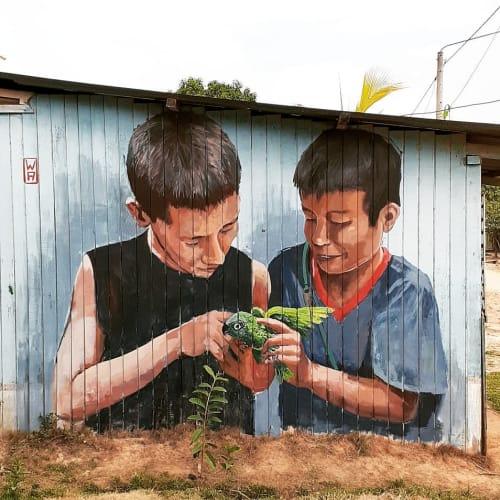 Murals by WA - Franco Domenak seen at Private Residence, Pucallpa - LA BALADORA