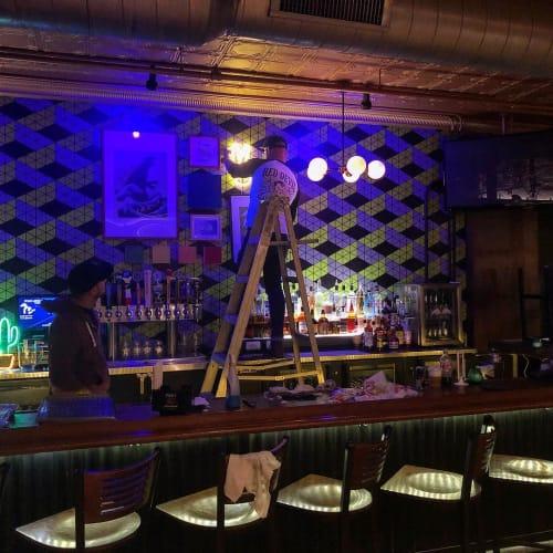 Wallpaper by Detroit Wallpaper seen at Bobcat Bonnie's, Ferndale - Zig Zag