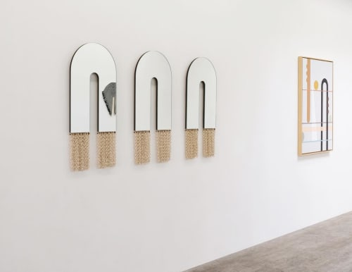 Wall Hangings by Eny Lee Parker seen at Prelude Projects, Brooklyn - Arched mirrors