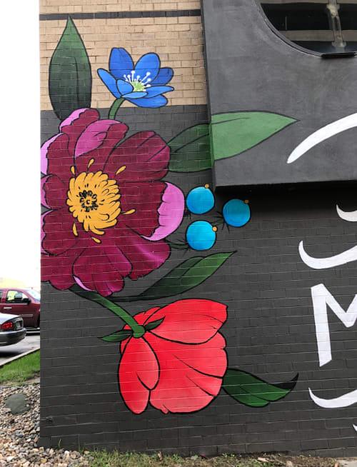 My Heart Belongs to Des Moines Mural   Street Murals by Jenna Brownlee