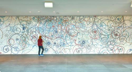 Murals by Carter Hodgkin seen at Capital One Headquarters, McLean, Virginia, McLean - Capital One Headquarters