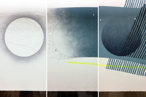 "Murals by Erik Otto seen at Uber, South Bay, Redondo Beach - ""Water & Sky"" Meet ""Nature & Technology"""