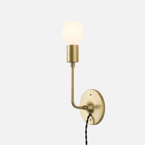 Sconces by Schoolhouse Electric at The Joshua Tree Casita, Joshua Tree - Brass Sconce