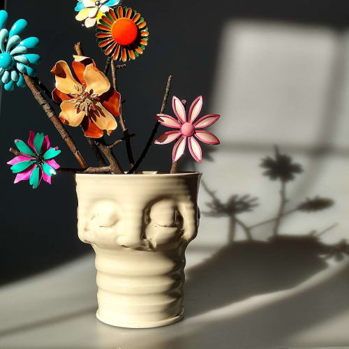 Vases & Vessels by Hollow Work by Kate Hardy at Private Residence, Washington - Rippled Face Vase