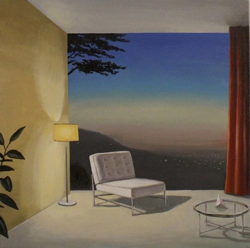 Paintings by Patrick St.Clair seen at Private Residence, San Francisco - Evening Window