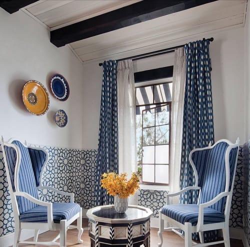 Encaustic Blue Cement Wall Tile by Granada Tile seen at Casa