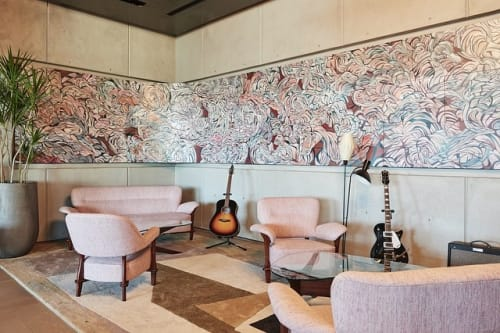Murals by Emilio Perez seen at Spring Place, New York - Music Room Mural