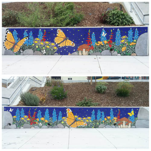Public Mosaics by New World Mosaics seen at Melrose Leadership Academy, Oakland - Dreaming the Path