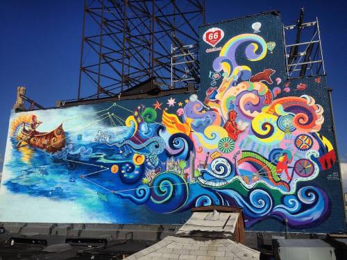 """66 Reasons to Love St. Louis"" mural | Street Murals by Liza Fishbone"