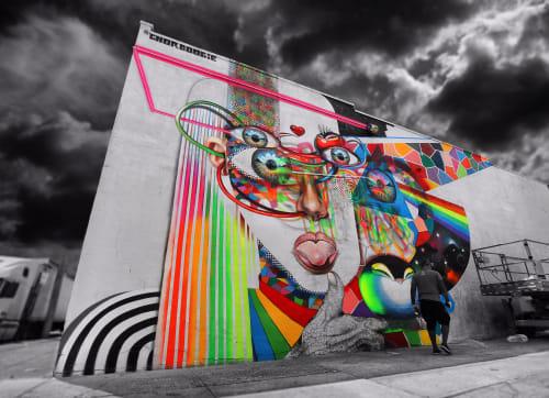 Street Murals by Chor Boogie seen at St Nicholas Ave. Murals, New York - VI SINS