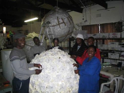 Lamps by Heath Nash seen at Johannesburg, Johannesburg - Large white balls