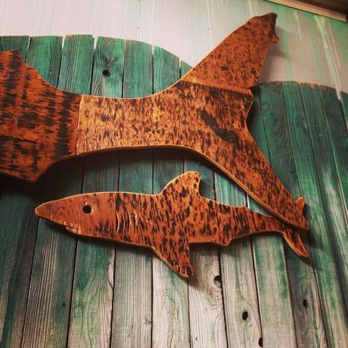 Sculptures by Monkwood at Monkwood Studio, Fullerton - Great Wood Shark