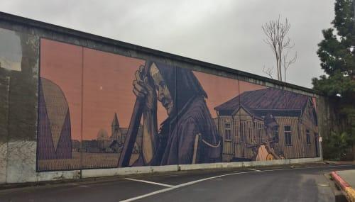 Street Murals by Sainer seen at St. John Street and Almaden Boulevard, San Jose, San Jose - Afternoon