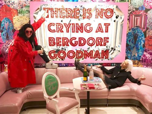 Paintings by Ashley Longshore seen at Bergdorf Goodman Bridal Salon, New York - No Crying