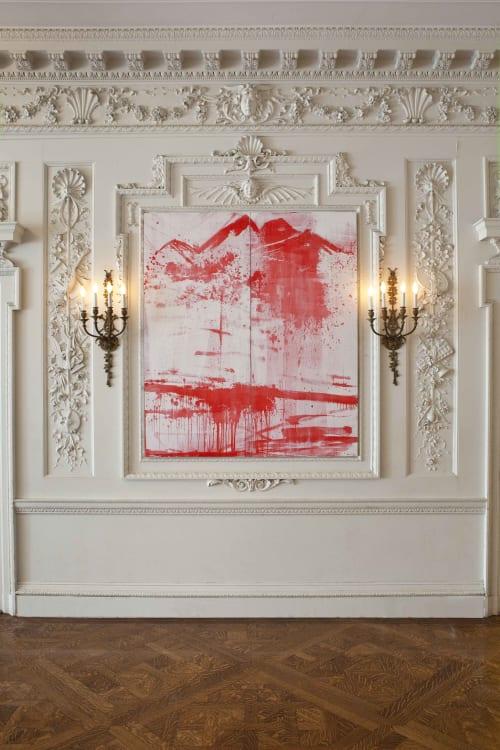 Paintings by Bernd Haussmann seen at Goethe-Institut Boston, Boston - 1986