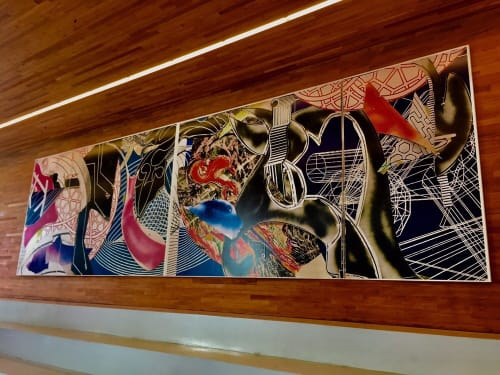 Sculptures by Frank Stella seen at LinkedIn - San Francisco, San Francisco - The Pequod Meets the Delight