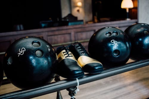 Apparel & Accessories by George Esquivel seen at The Spare Room, Los Angeles - Custom Handcrafted Bowling Shoes