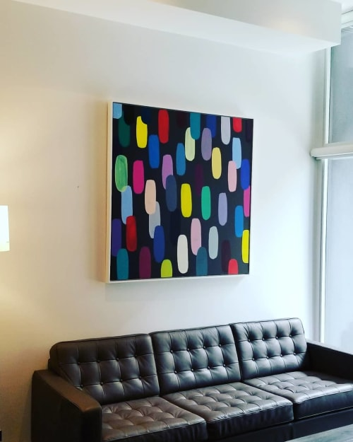 Paintings by Peter Triantos seen at Private Residence, Toronto - Jelly Bean