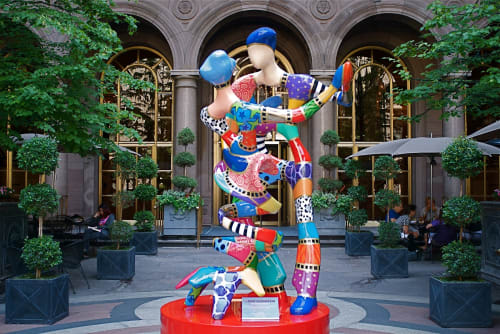 Sculptures by Dorit Levinstein seen at Lotte New York Palace, New York - Renoir's Dancers