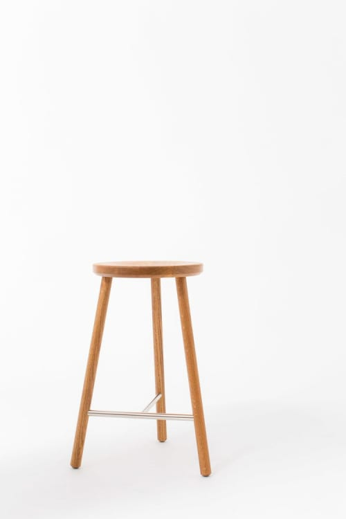 Chairs by Steven Bukowski seen at Warby Parker, Congress Ave, Austin, Austin - Scout Stool
