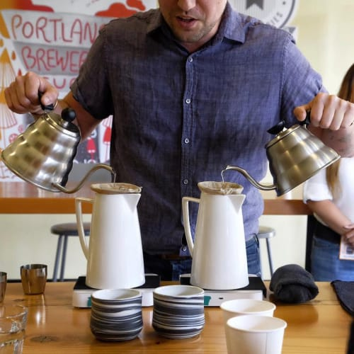 Cups by Clay Factor Ceramics seen at Buckman Coffee Factory, Portland - Tumblers - Midnight Noir