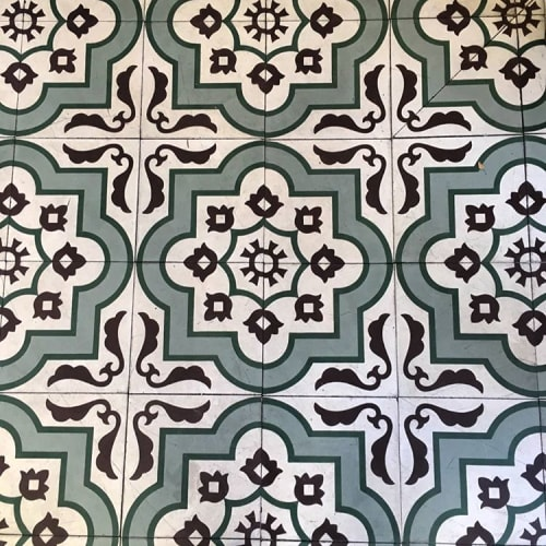 Tiles by clé tile seen at Cafe Gratitude San Diego, San Diego - Custom-Colored Floor Tile