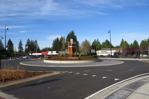 Public Sculptures by CJRDesign at Edmonds, Edmonds - Drawn To The Water Connected By Community