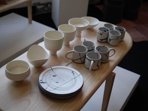 Cups by Erin Hupp Ceramics seen at Wescover Gallery at West Coast Craft SF 2019, San Francisco - Ink Splatter Mug