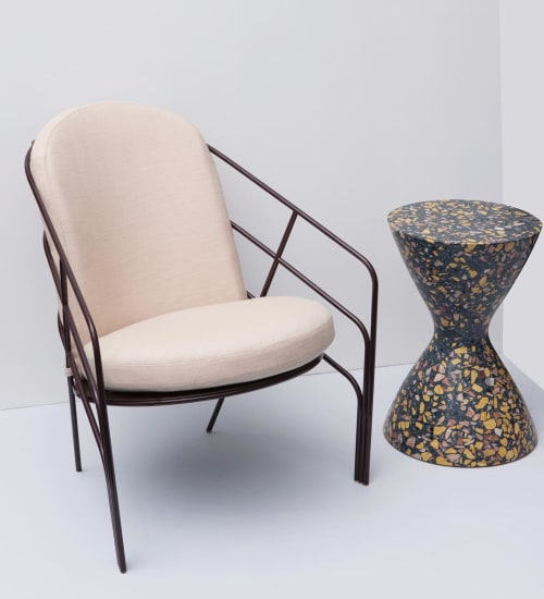 Chairs by LAUN seen at Sight Unseen, West Hollywood - DeMille Chair and Confetti Table