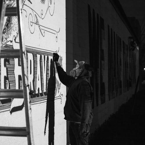 Street Murals by Josh Scheuerman seen at Salt Lake City, Salt Lake City - 'Be Kind. Be Brave' Mural
