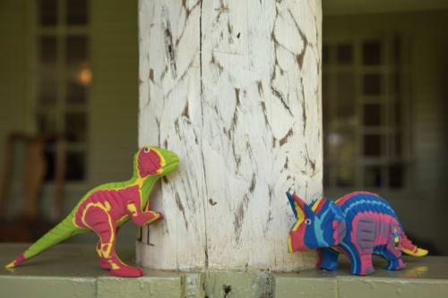 Art & Wall Decor by Ocean Sole seen at Private Residence, Ponte Vedra Beach - Small Blue Dinosaur