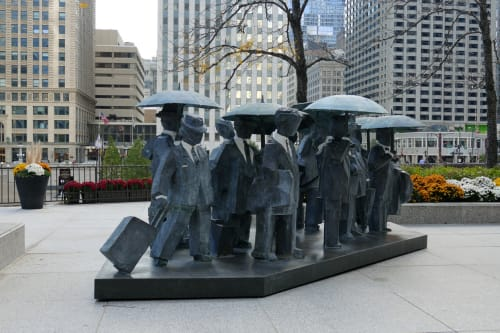 Sculptures by Ju Ming seen at The Langham Chicago, Chicago - Gentlemen