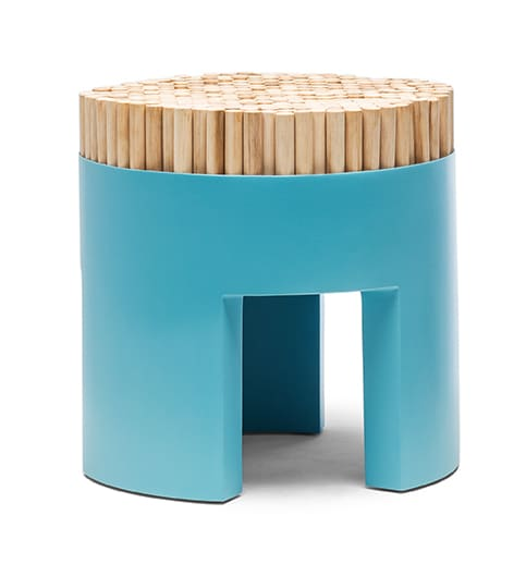 Chairs by Kenneth Cobonpue at Schindler Beach House, La Jolla CA, San Diego - Chiquita Stool